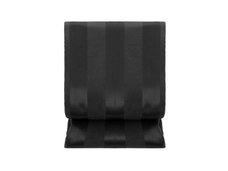 Toalha Retangular Listrada Preta  - 0490