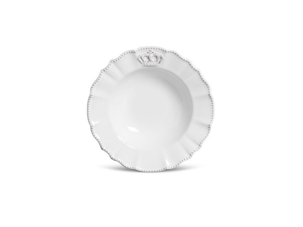 Prato Fundo Branco Coroa Windsor - 5074