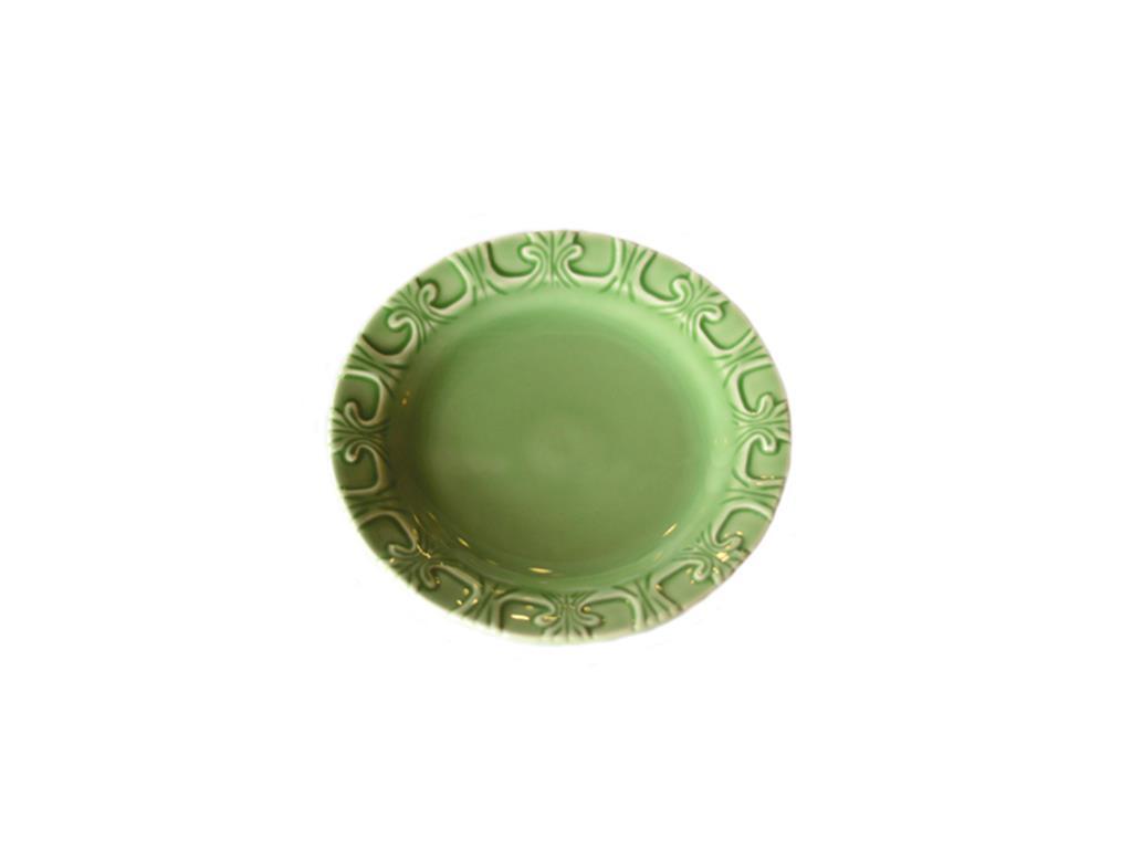 Prato De Sobremesa Arabescos Verde - 5489