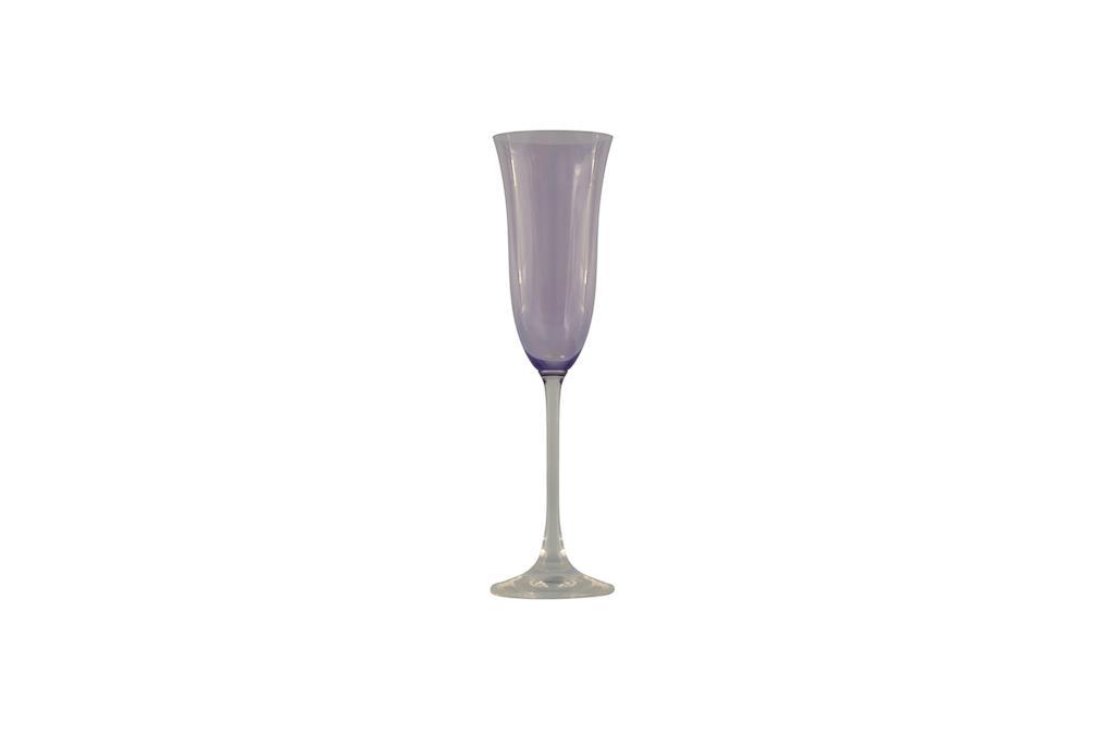 Taça de Champagne  Flora Lilás