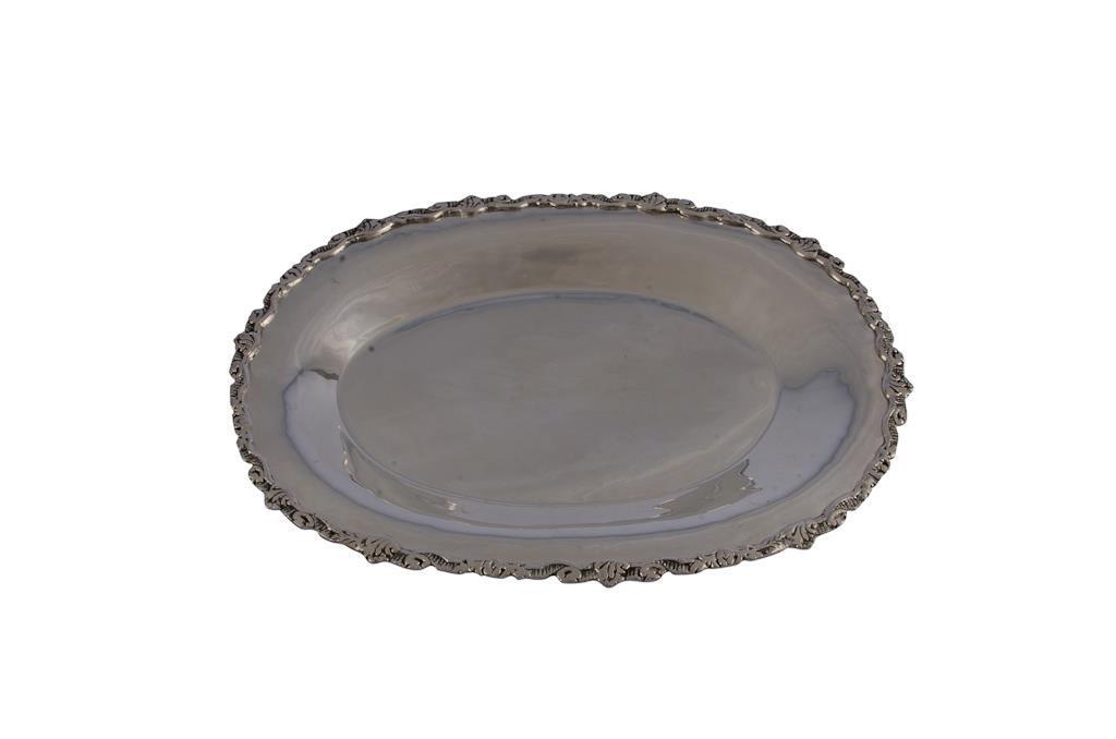 Baixela de Prata Oval Trabalhada - 0362