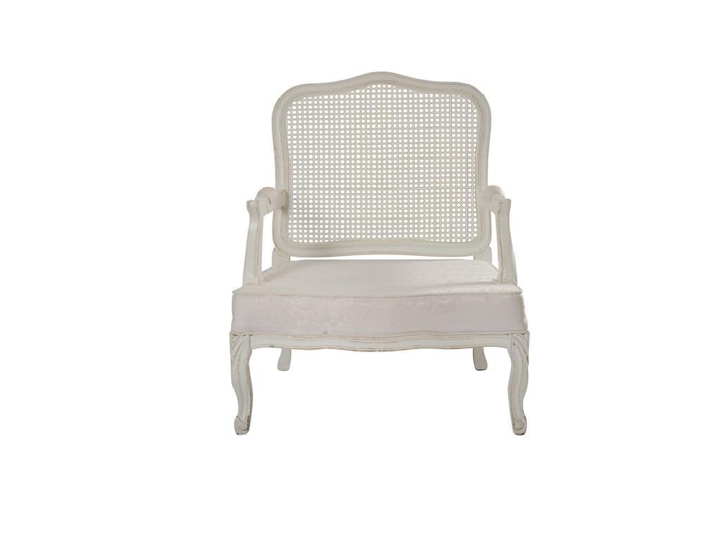 Poltrona Provençal com Assento Branco - 0016