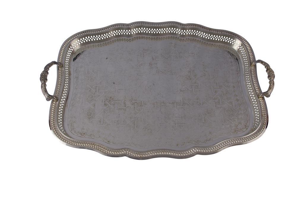 Bandeja de Prata Retangular - 0372