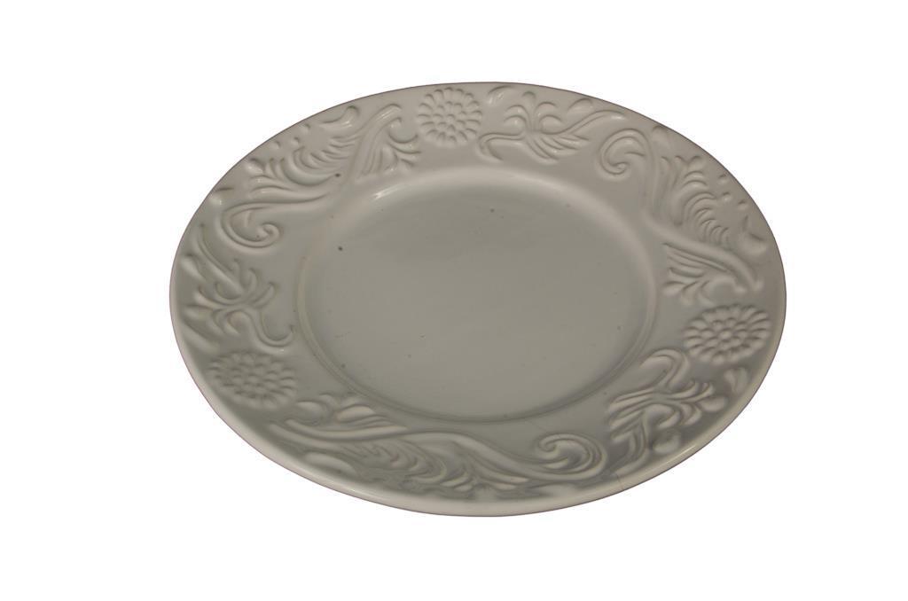 Porcelana para Doces Redonda Trabalhada - 3235