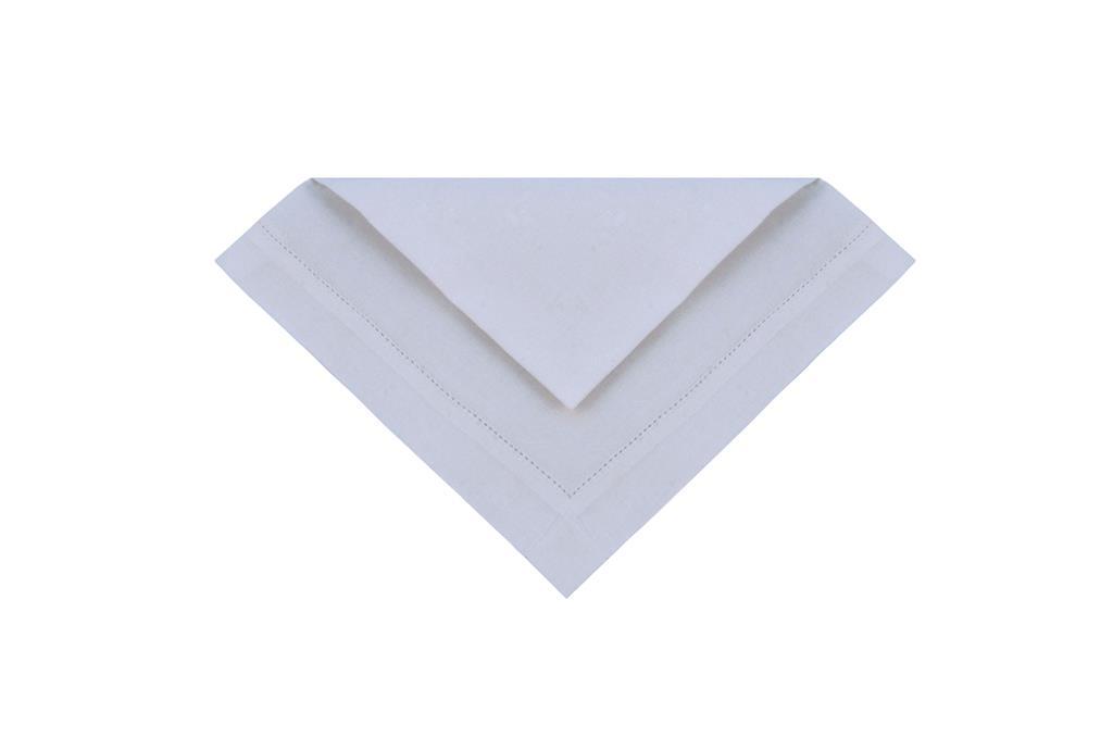Guardanapo Branco - Tecido Cambraia -  0431