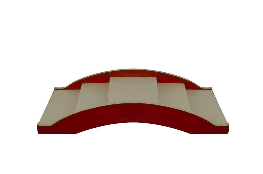 Ponte para Sushi  & Sashimi Branco com Vermelho - 3264