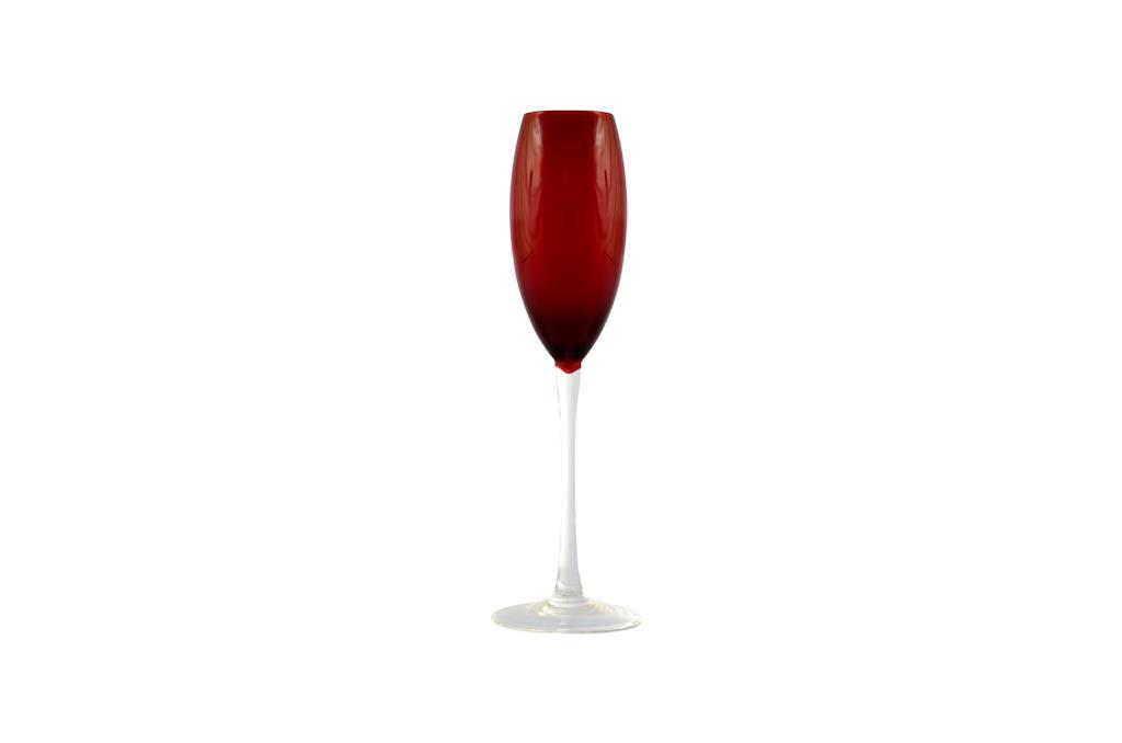 Taça de Champagne Vermelha Lidia