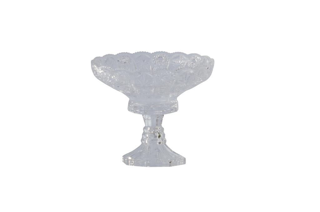 Peça para doces de Cristal Redonda Pequena com pé - 3309