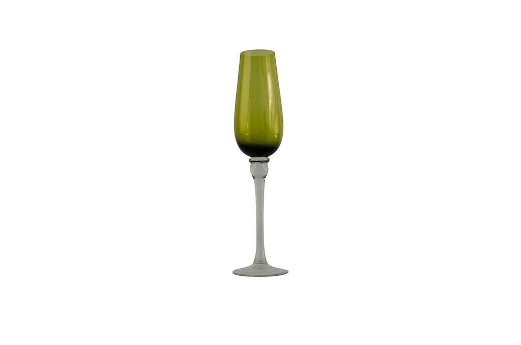 Taça de Champagne  Verde