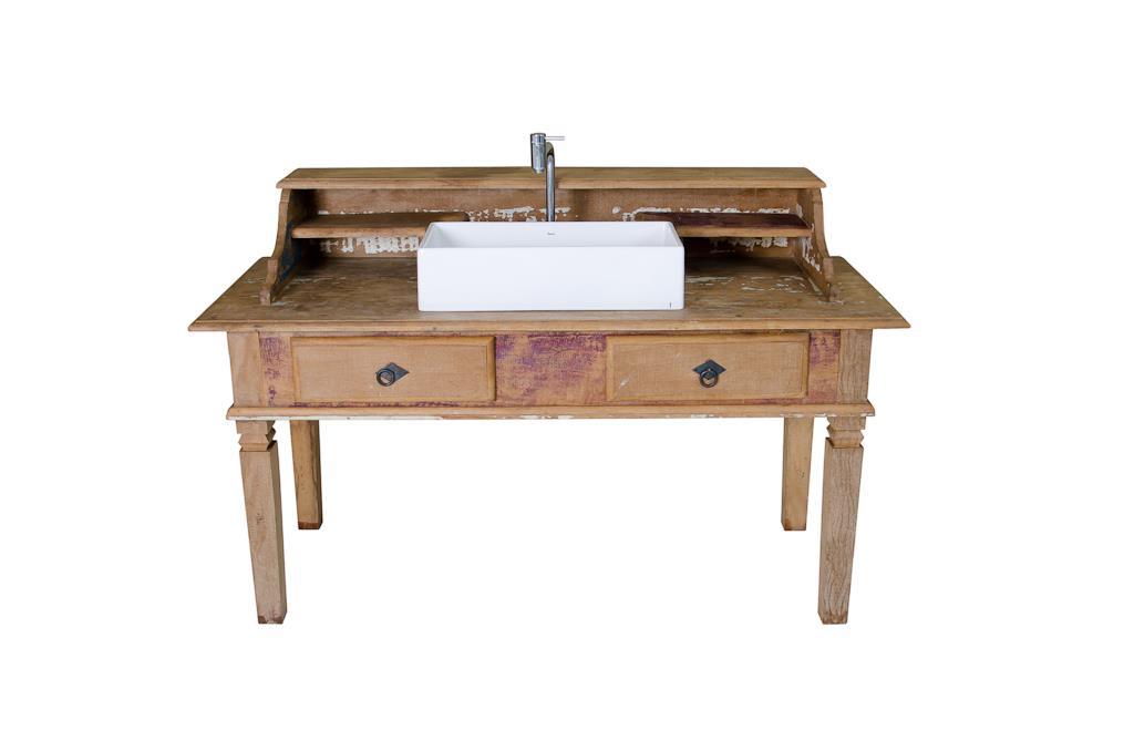 Mesa e pia em madeira de demolição - 2919
