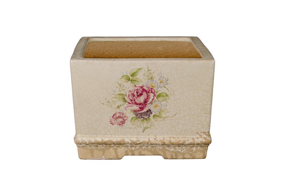 Cachepot Florido Quadrado Baixo - 0188