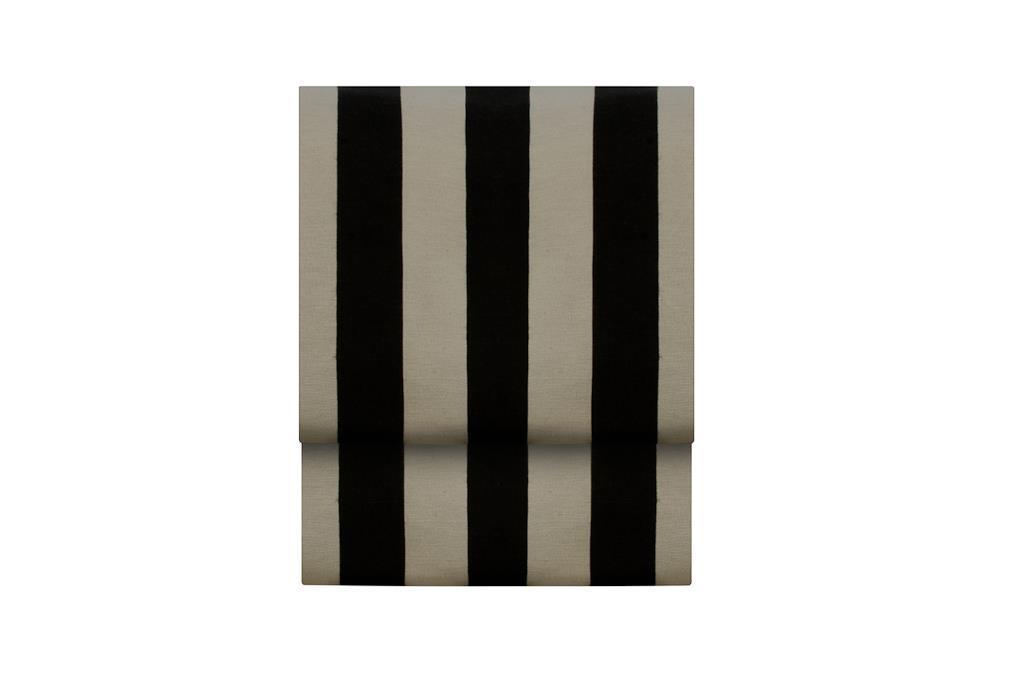 Toalha Listrada Retangular Branco & Preto - 0478