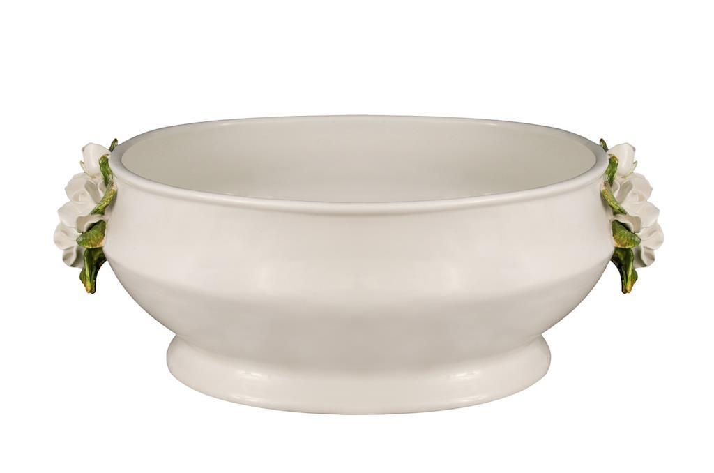 Champanheira De Porcelana Branca Com Rosas  - 2981
