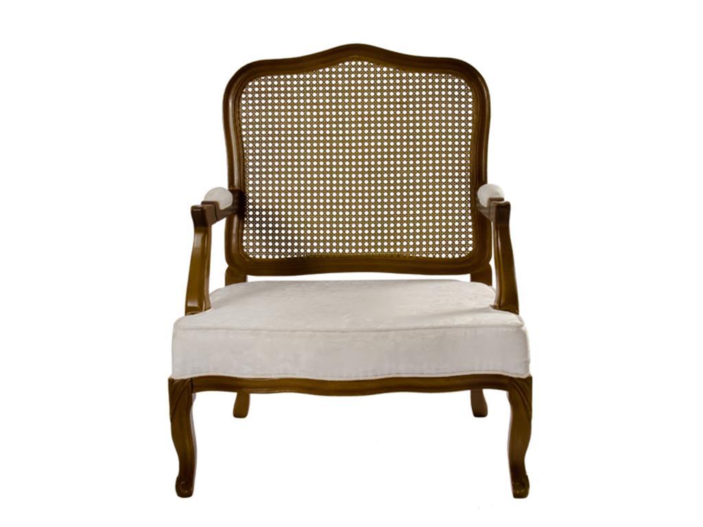 Poltrona Imbura Dourada com Assento Branco - 0013