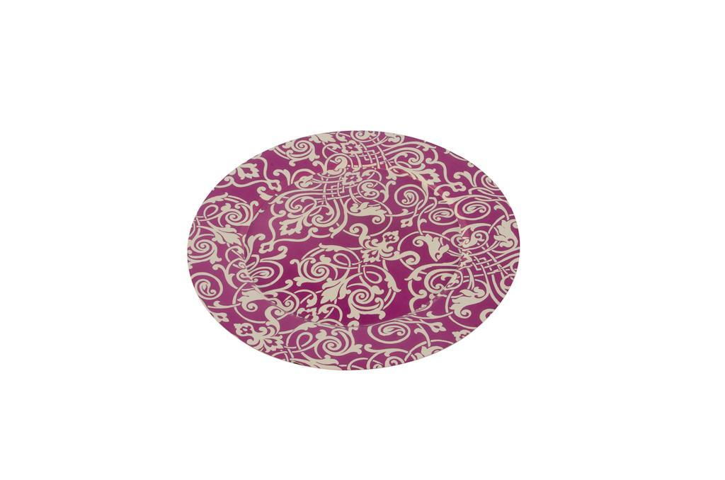 Sousplat de arabescos rosa - 2927