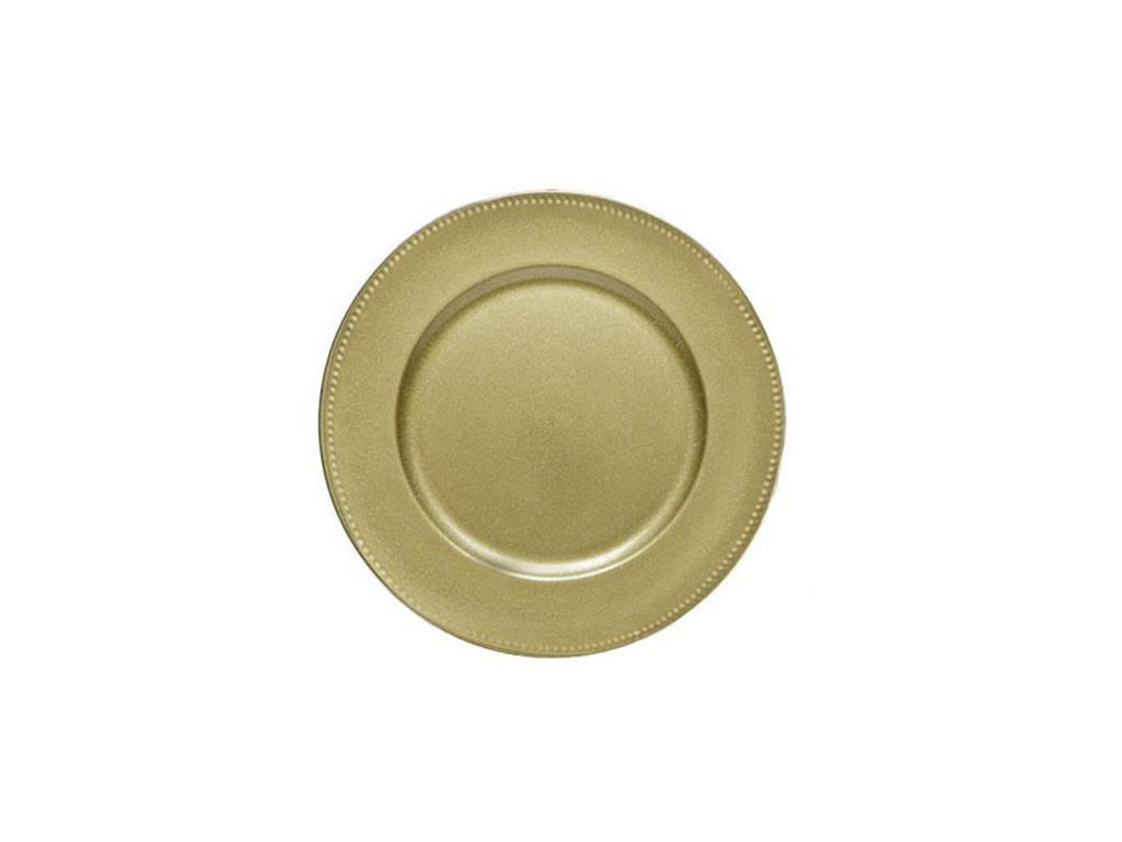 Sousplat dourado - 4173
