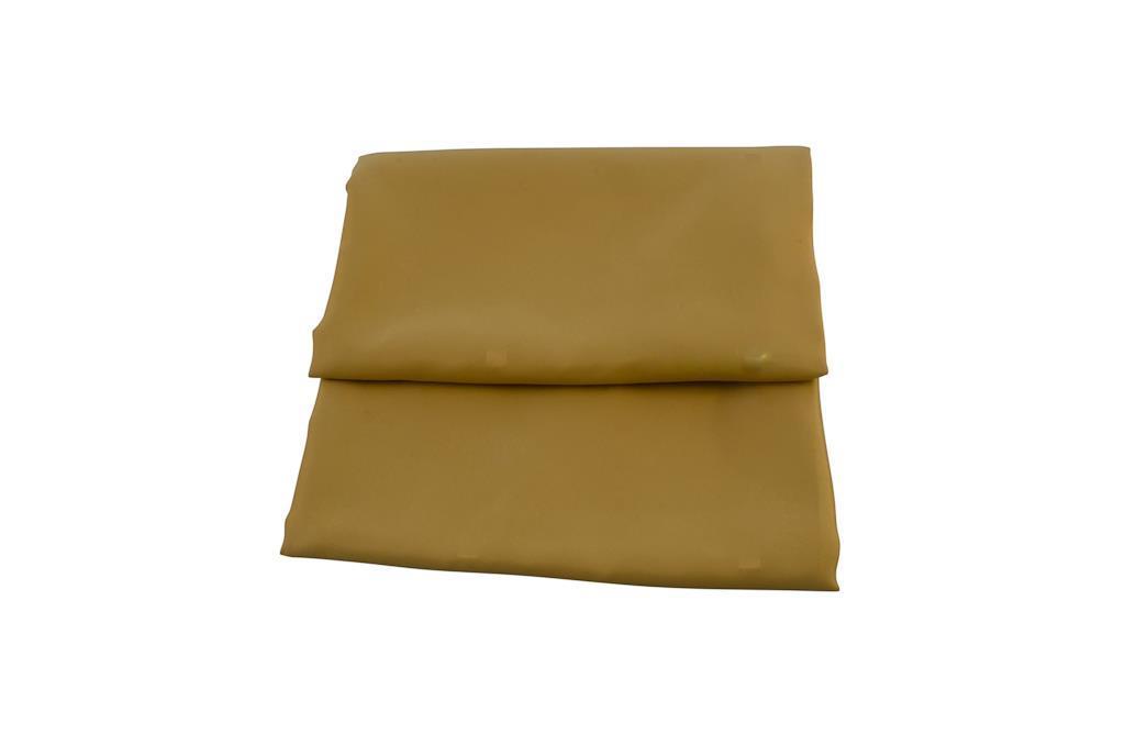 Toalha Redonda Amarelo Dourado com  Detalhes de Quadrados entre Meios - 3313