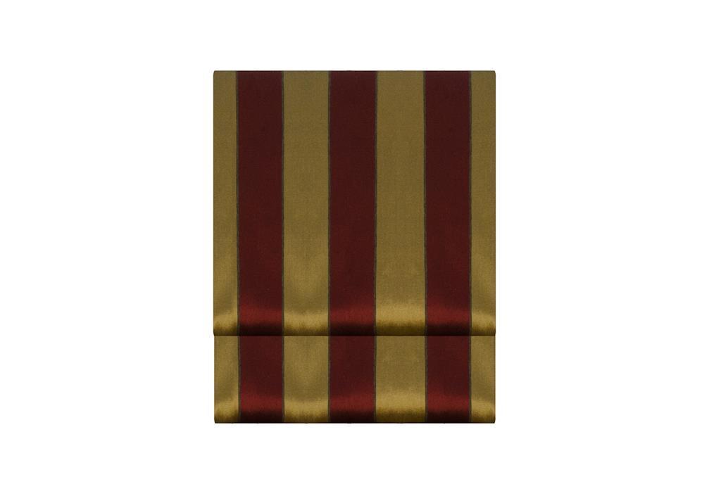 Toalha Redonda Listrada Vinho & Dourado - 0461