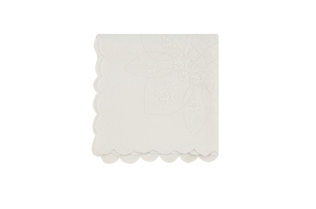 Toalha Rechillier Quadrada Branca  - 0493