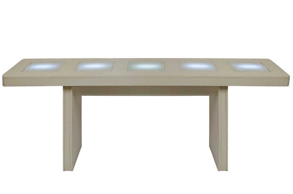 Mesa Bistrô branca de LED - 0260