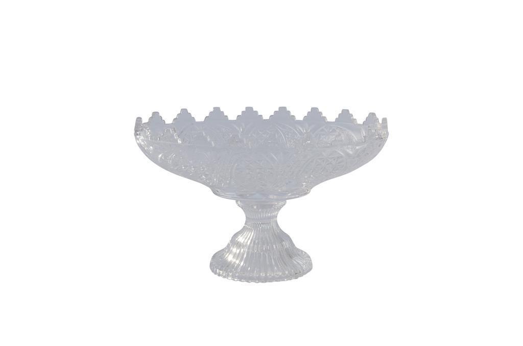 Peça para doces oval de Cristal Pequena com pé - 3308