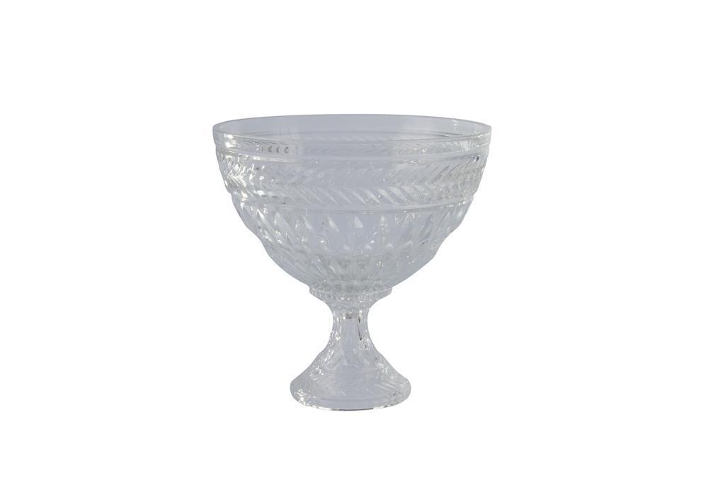 Peça para doces redonda de Cristal com pé - 3307