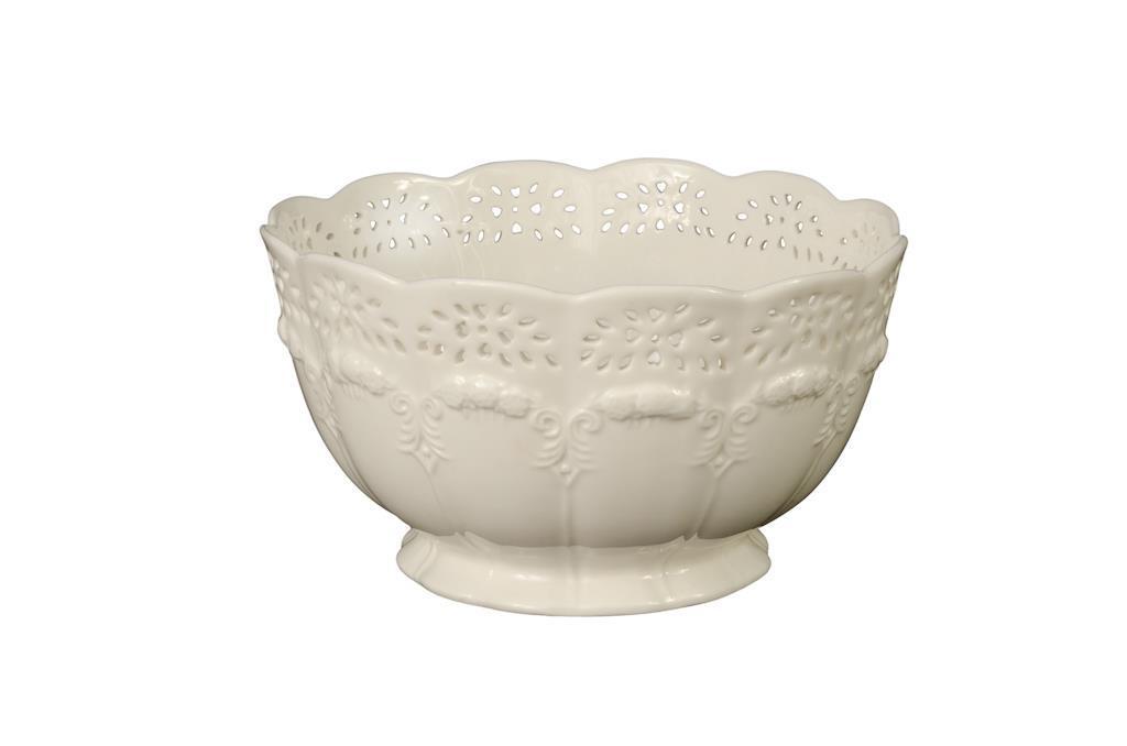 Cachepot de Cerâmica Branca - 0185