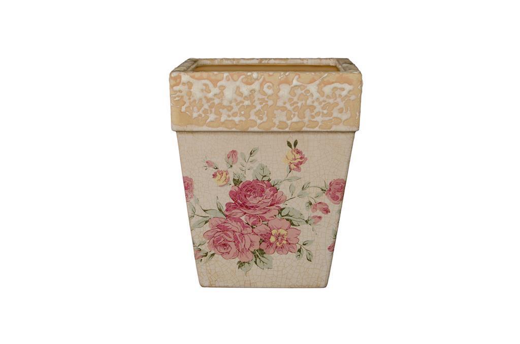 Cachepot Florido Quadrado Alto - 0195