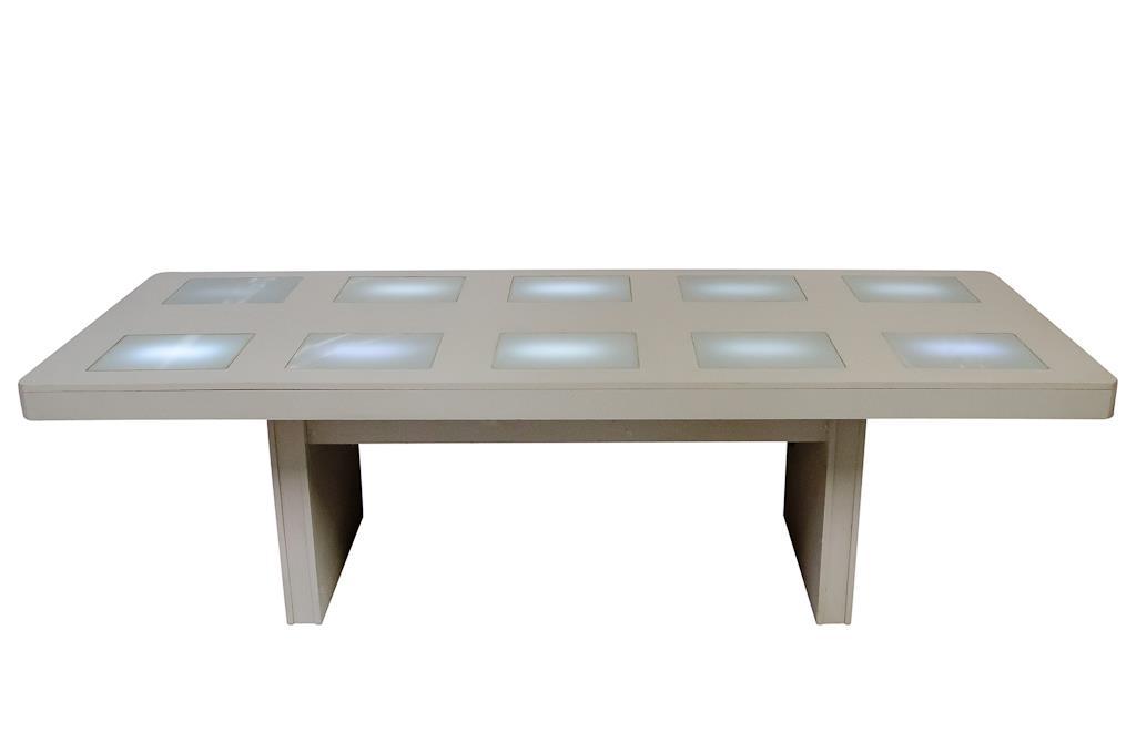 Mesa Retangular branca de LED - 0259